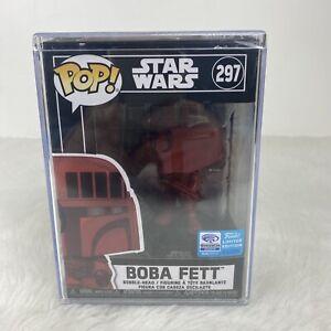 Boba Fett WONDERCON Red Funko Pop Hard Protector MINT Vinyl #297 Star Wars™