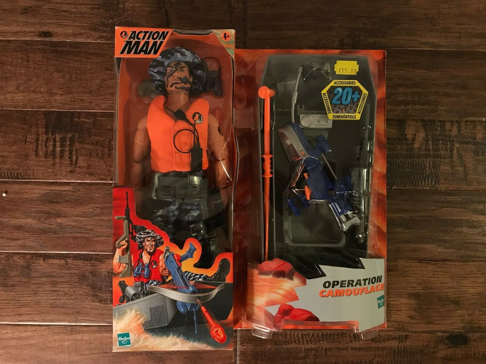 1999 (Hasbro)  ACTION MAN  (OPERATION CAMOUFLAGE) 12  Action Figure, NEW  RARE