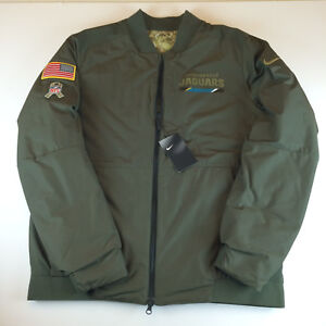 official photos 2029a 93a69 Details about Nike NFL Jacksonville Jaguars Salute to Service Reversible  Bomber Jacket Men XL