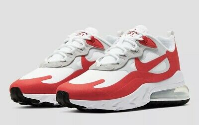 NIKE AIR MAX 270 REACT WHITE RED UK SIZE 9 MENS TRAINERS ...