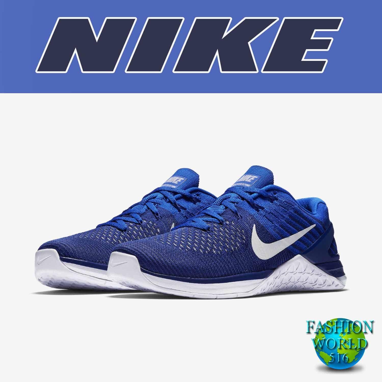 Nike Men's Size 13 Metcon DSX Flyknit Training Shoe Royal Blue/White 852930-402