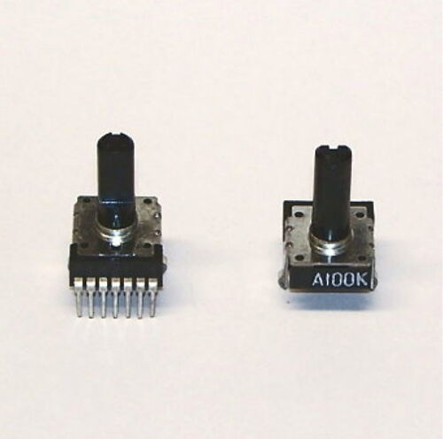 2 PCS lot potentiometer 100K DUAL audio taper PC mount stereo PCB trimmer NEW