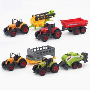 PT-Lk-Lega-Auto-Trattore-Giocattolo-Modello-Fattoria-Veicolo-Camion-Bambini