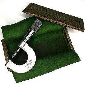 Vintage-No-575-D-Starrett-Screw-Thread-Micrometer-32-To-40P-in-Original-Wood-Box