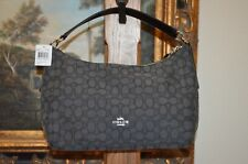Authentic Coach Outline Signature Celeste Hobo Crossbody Smoke//Black F58284 Bag