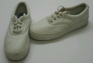 Keds Stretch Off White / Cream Colored Lace-up Square Toe Shoe Womens Size 8