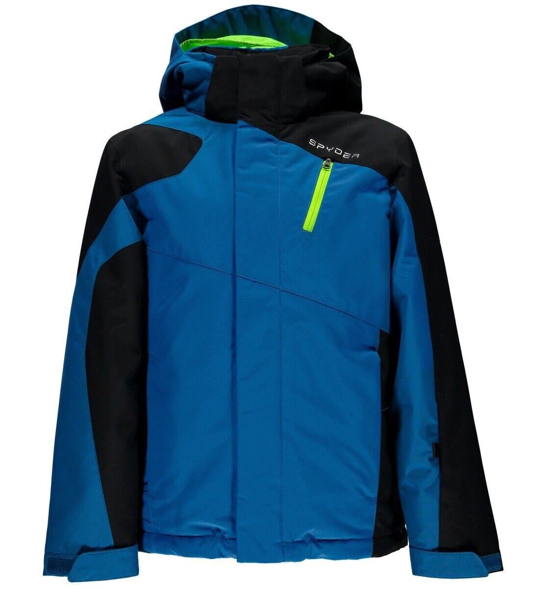 Spyder Boy's Guard Jacket Jungen Skijacke french Blau schwarz