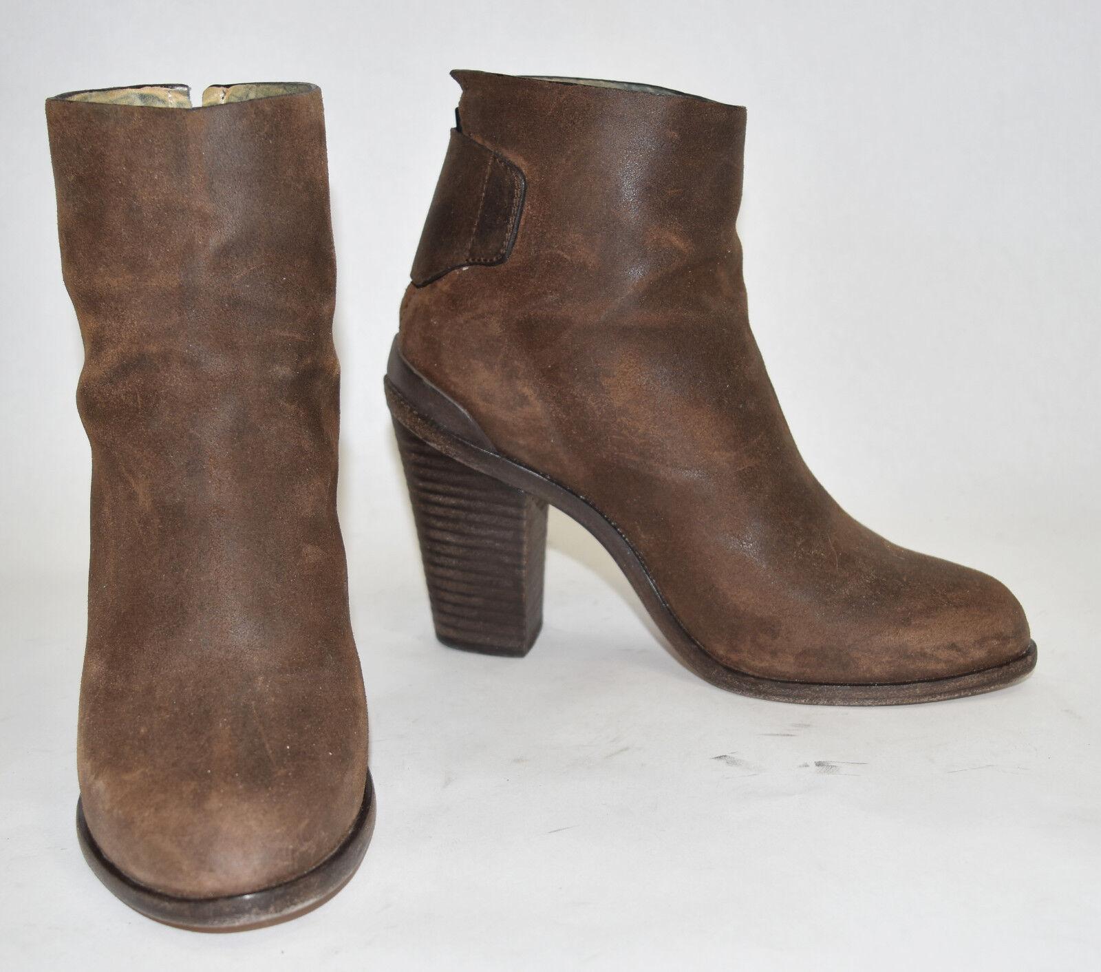 CELEBS      600+ rag & bone 'Kerr' Boot Bootie Waxed Italian Suede Brown 38 (WR1) b3b909
