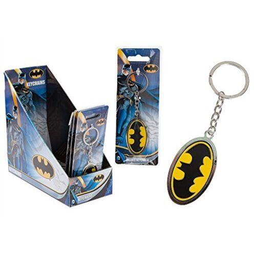Enamel Joy Toy 301026 Batman Logo Metal Key Chain On Backer Card In A Display