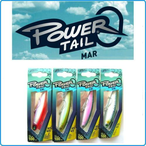 ARTIFICIALE FIIISH POWER TAIL 35g SW SILVER GREEN SPINNING MARE PALAMITE TONNI