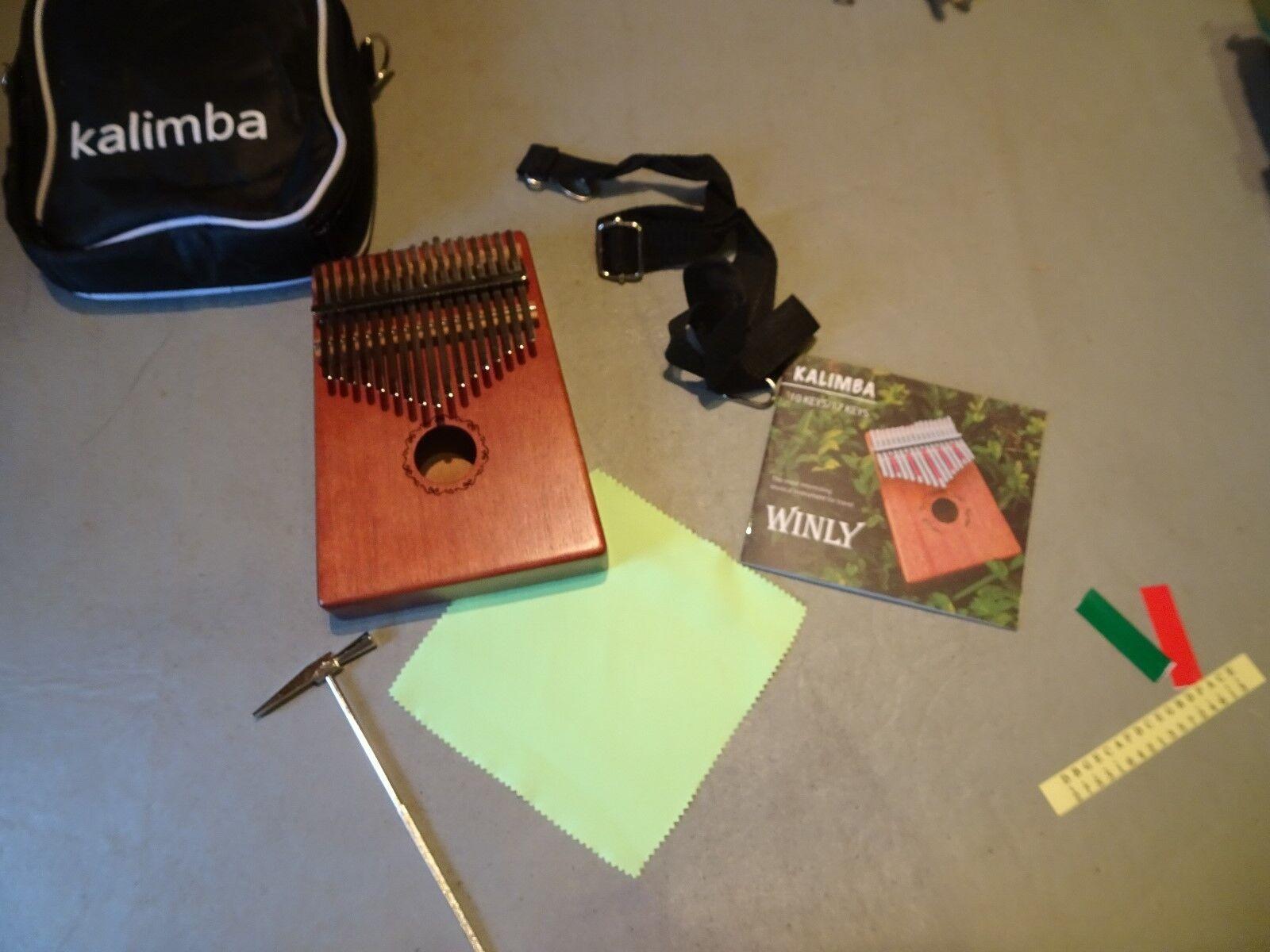 Daumenklavier Kalimba Karimba Instrument 17 Schlüssel solid Finger Klavier NEU