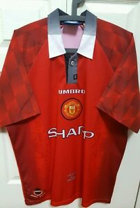 2454fe77766 Image is loading VINTAGE-MANCHESTER-United-UMBRO-OFFICIAL-Red-Home-Jersey-