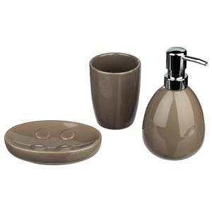 Conjunto accesorios cuarto de baño cerámica Gris pardo Distribuidor ...