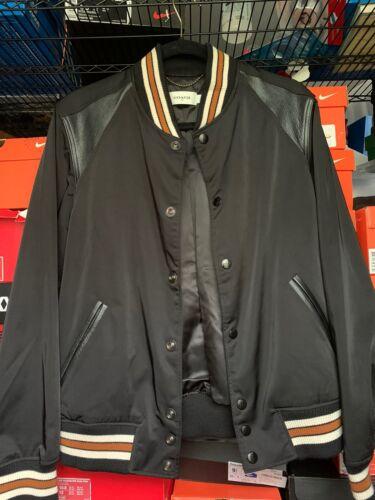 Coach Nylon & Leather Varsity Bomber Moto Jacket B