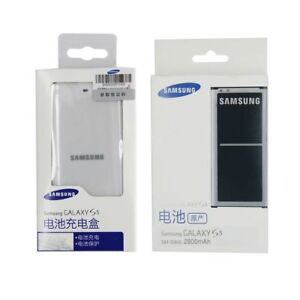 Original-Samsung-Battery-amp-Desktop-Charger-for-Samsung-Galaxy-S5-BG900BBE-2800mAh