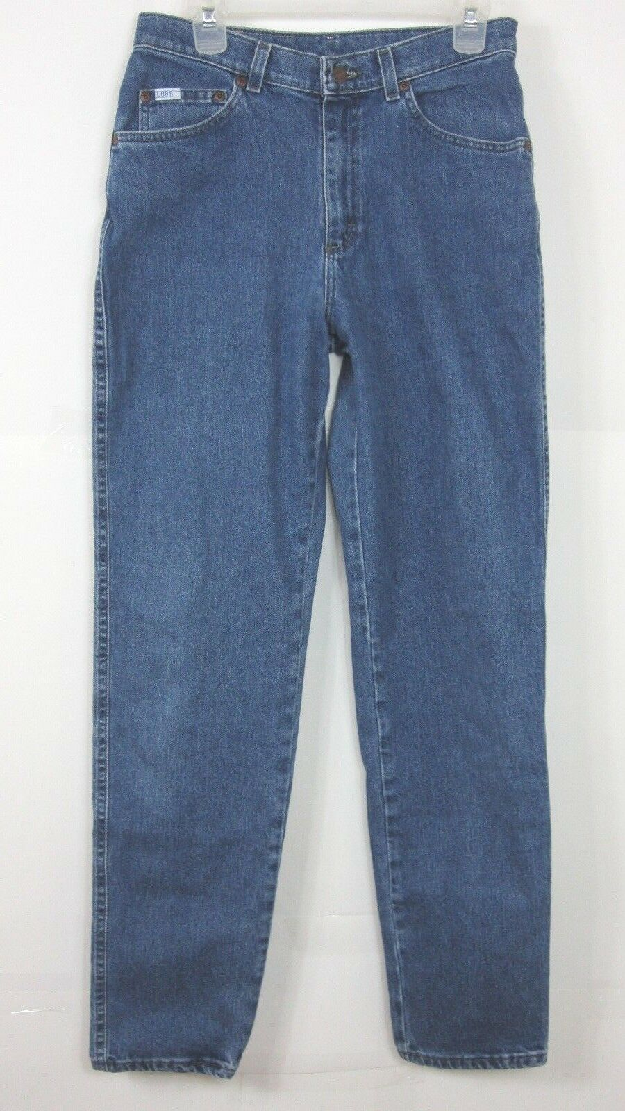 Vintage Lee  High Waist bluee Denim Mom Jeans Womens Size 12 L  ( 29x33 )