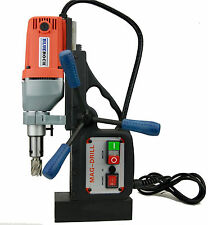 Bluerock Tools Brm 35a Magnetic Drill Press Mag Drill Typhoon Red Color