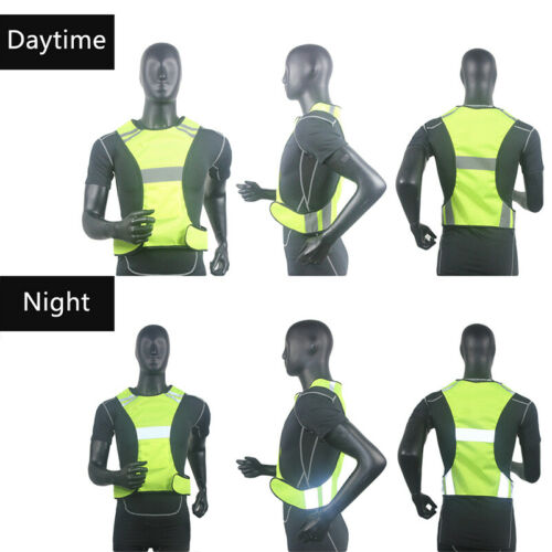 1x Security High Visibility Reflective Vest Breathable Safety Stripes Jacket CHY