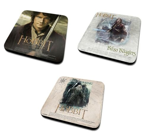 Posavasos Individual-Genuino El Hobbit bebidas Mat Regalo Warner Bros trilogía Bilbo