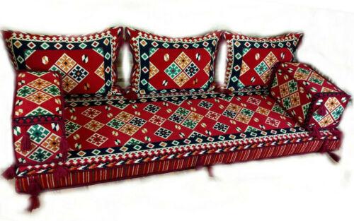 Orientalische Sitzecke-Sark Kösesi-6 Tlg.MIT FÜLLUNG Neu