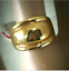 thumbnail 3 - Ladies Gold Plated Cocktail Band Ring Size 12 Wide