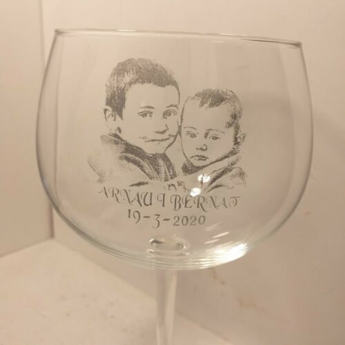 grabado con foto gin tonic personalizada Copa de combinados