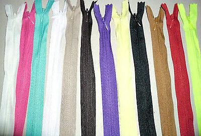 Cremallera oculta costura no divisible negro 1418 20 24cm pantalones vestido bolso