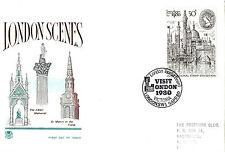 9 APRIL 1980 LONDON 1980 STAMP EXHIBITION STUART FIRST DAY COVER VISIT LONDON