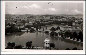 KIEL-Schleswig-Holstein-Panorama-Blick-Stadt-um-1945-AK