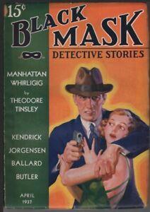 Black Mask 1937 April.        Pulp
