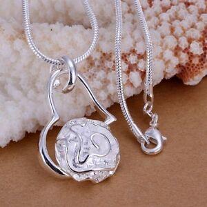 ASAMO Damen Halskette mit Anhänger 925 Sterling Silber plattiert Kette Schmuck