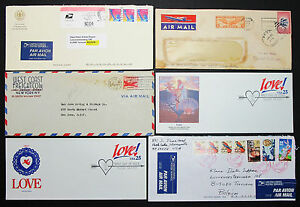 US-Postage-Set-of-6-Stamps-Covers-Letter-Envelope-FDC-Adv-USA-Lupo-H-7653