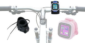Black-Bicycle-Mount-Kit-For-Use-With-VTech-KidiZoom-Smart-Watch-With-Cable-Ties