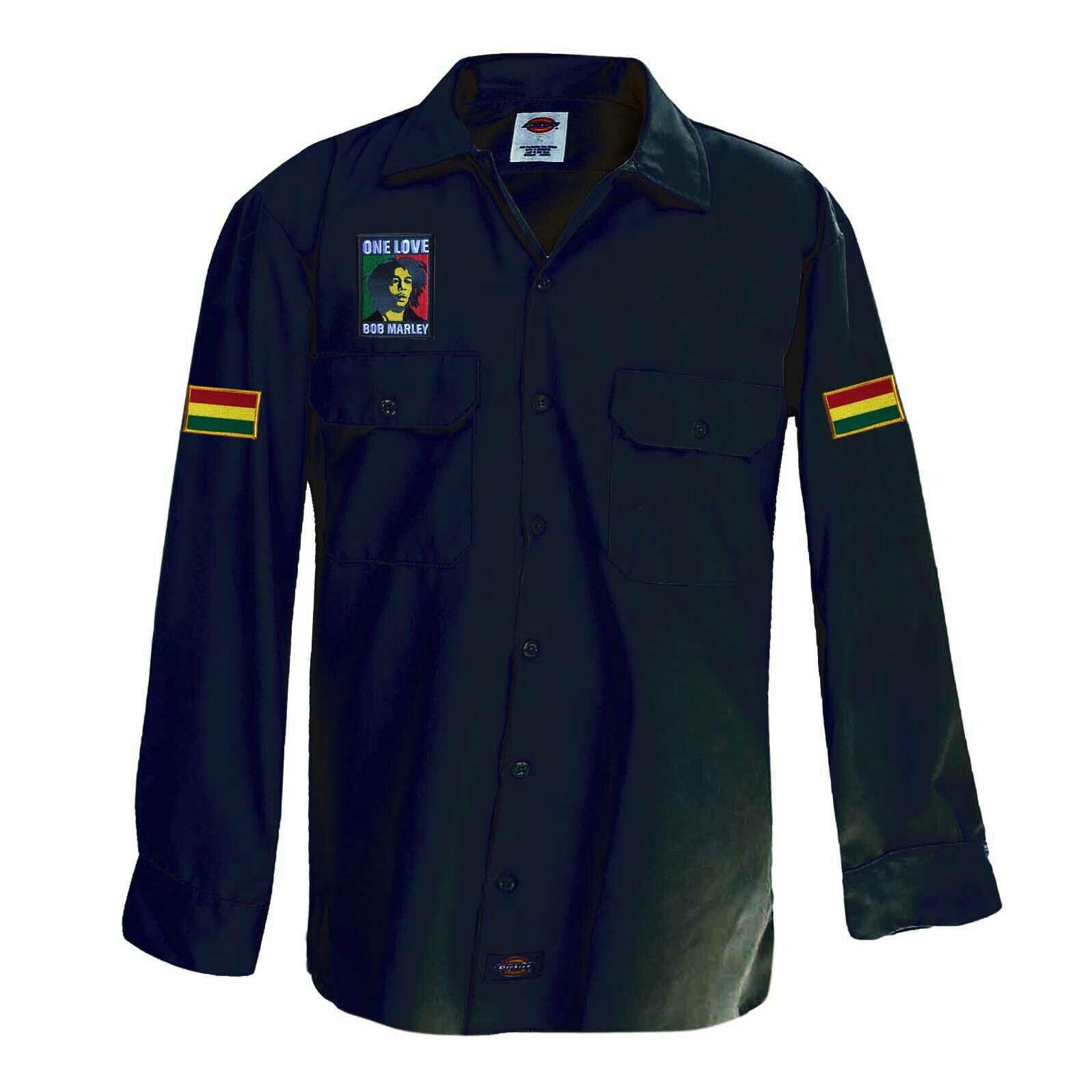 Reggae Jamaica Marley Roots Africa reggae jamaica Patch Shirt Rasta [ XL ]