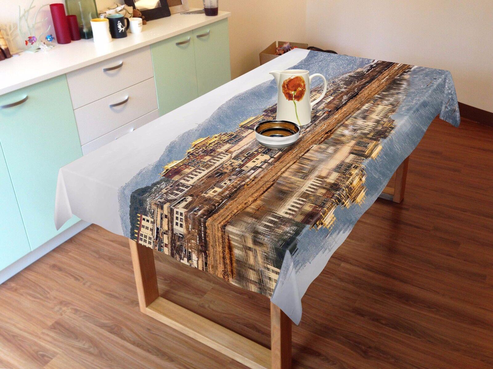 3D House Lake Nappe Table Cover Cloth fête d'anniversaire AJ papier peint Royaume-Uni Citron