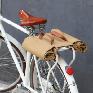 Tourbon Roll-up Bike Pannier Rear Waterproof Canvas Bicycle Market Travel Bag US