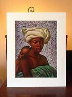 ORIGINAL RARE Tretchikoff Swazi Mother 1960s - Vintage Kitsch Mounted Art Print
