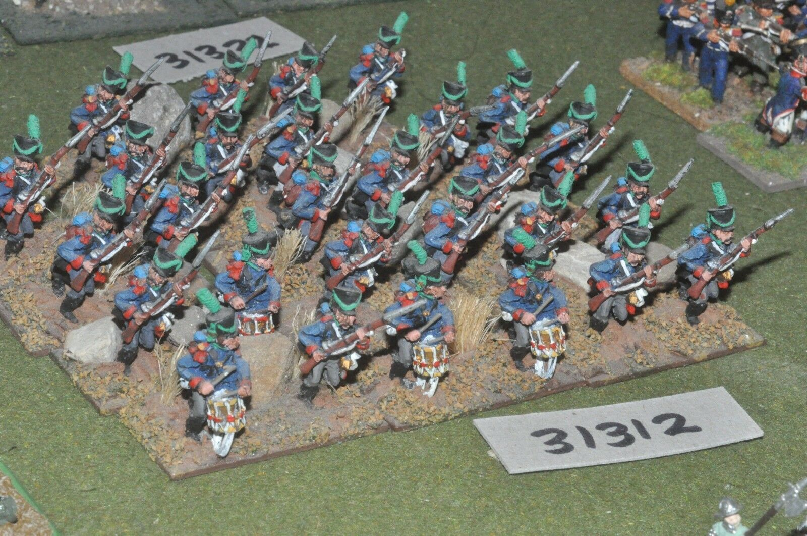 25mm napoleonic   french - light 28 figures - inf (31312)