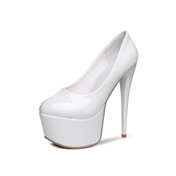 Sexy Einfach Damen Slipper Schuhe Pumps Stiletto Absatz Nachtclub Platform Neu