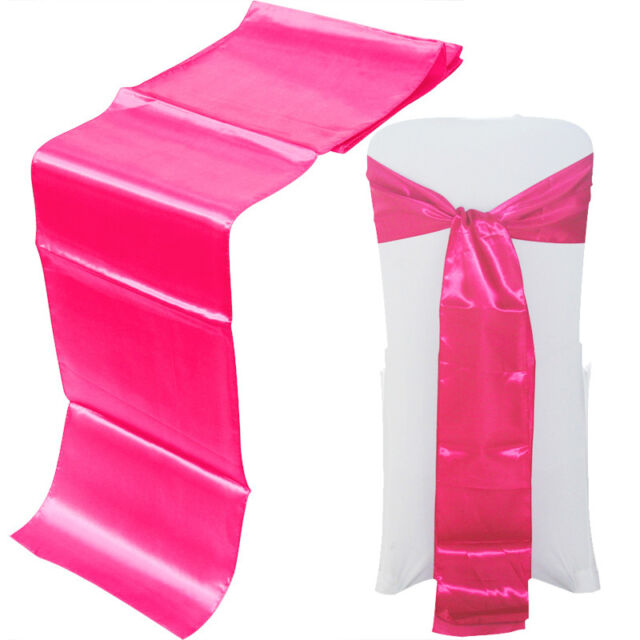 20 Colours Satin Table Runner and Satin Chair Bow Sash Wedding Party Decoration