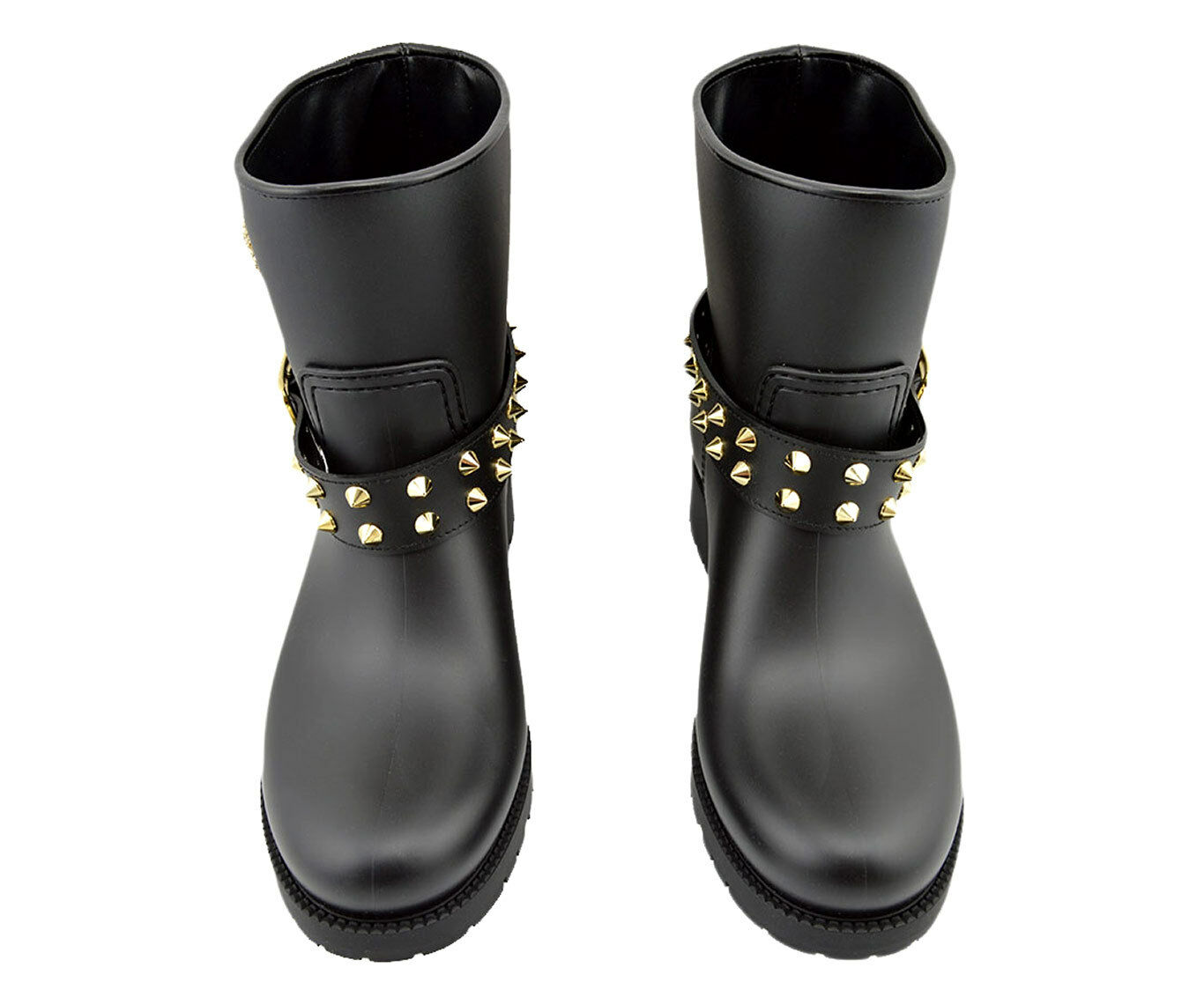 850 PHILIPP PLEIN Black Rubber  FLORIDA    Skull Rainproof Ankle Boots 40   10 4fbbc3