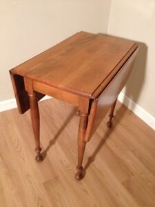 Image Is Loading Vintage Signed Maple Drop Leaf Side End Table