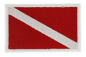 SCUBA-DIVING-DIVER-DIVE-FLAG-PATCH-patches-backpack-BADGE-IRON-ON-EMBROIDERED