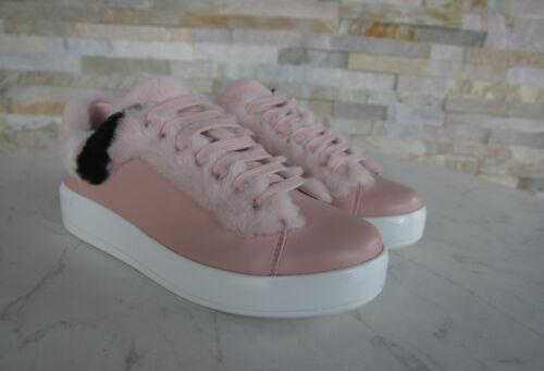 Sneakers Scarpe Coi Peach Nuovo Origin Prada Pelo 37 Lacci Pecora BqwxfwR5n