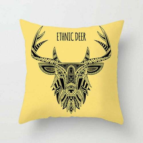 """Ethnic Style Deer Animal Astronaut Polyester Pillow Case Cushion Cover 18/""""x18/'/'"""