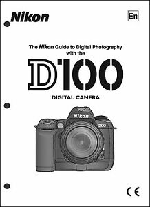 nikon d100 user manual guide instruction operator manual ebay rh ebay com nikon d100 user guide nikon d100 manual pdf