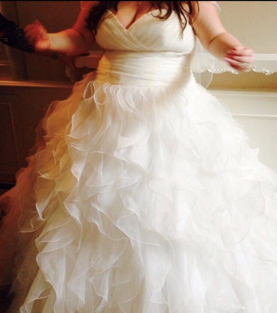 Plus Size Wedding Dress Worn Once Dry Cleaned And Boxed