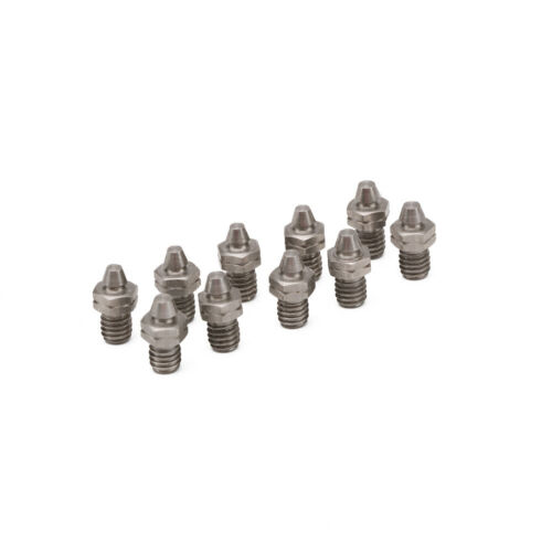 M4 Motorcycle 10pcs Foot Rest Peg Footpeg Pedal Pads Bolts Screw Teeth Tail Nail