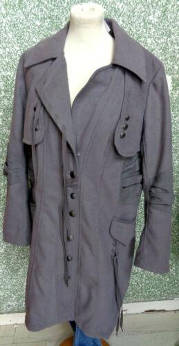 138 Damenmantel Grau Tredy Gr Jacke Marken 12 Mantel Damenjacke 42 OwSOfPqx
