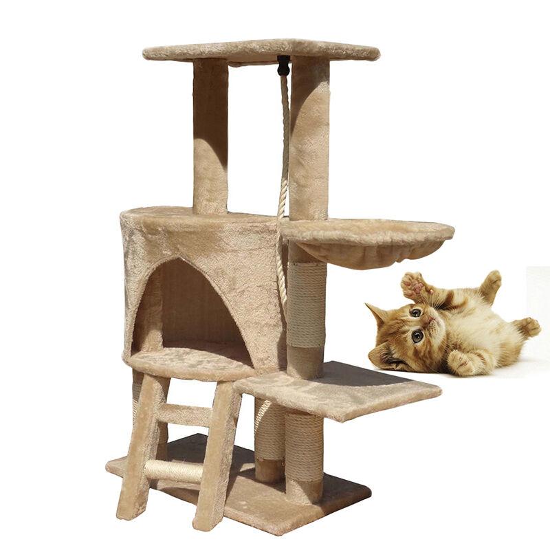 Panana kitten cat tree scratcher scratch post climbing tower pet bed condo toy ebay - Cat bed scratcher ...